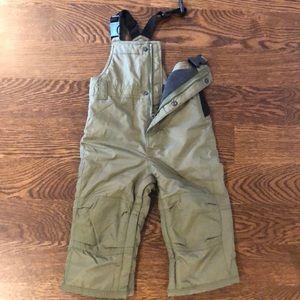 GAP BABY snow pants/bib olive color